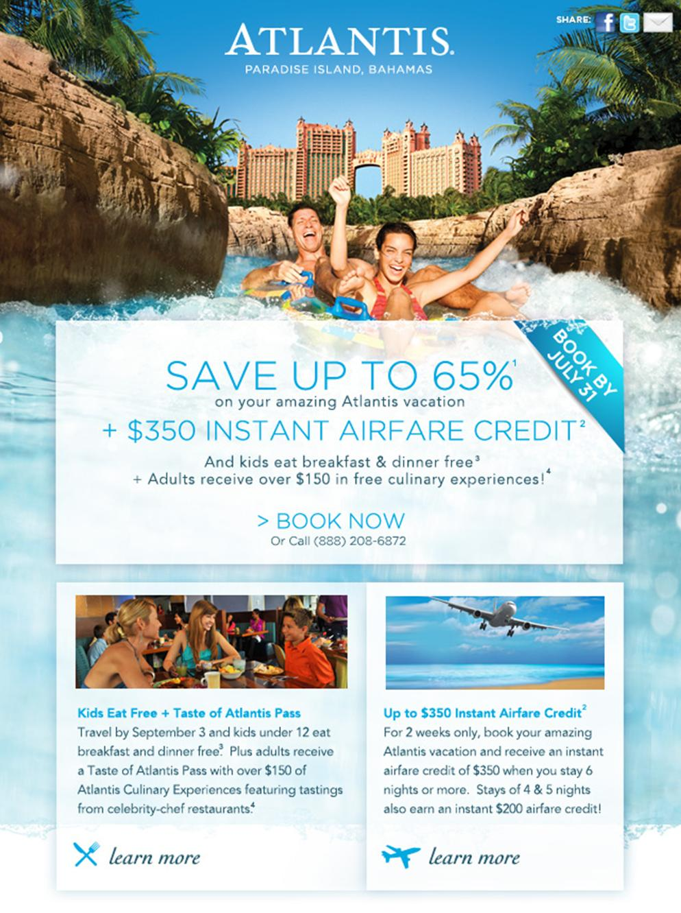 350 Airfare Credit To Atlantis Bahamas Dreamhoneymoons